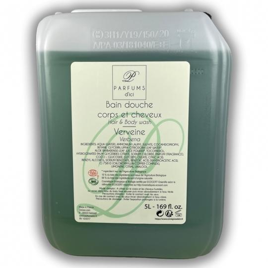 Shampooing-douche Verveine Bio en bidon de 5 litres